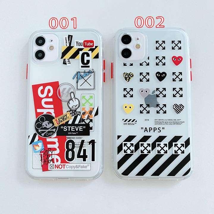 オフホワイト iphone12promax/12 mini 透明 スマホケース