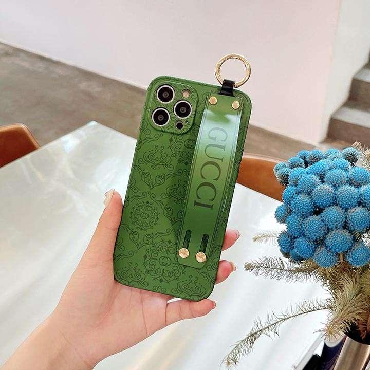 iPhone 12pro max ブランド英字プリント付き GG カバー